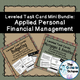 Personal Finance Task Cards Mini Bundle - Leveled - Suitab
