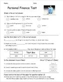 Personal Finance Assessment