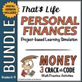 Personal Finance Unit PBL Simulation | Money CtC Bundle |