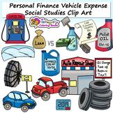 Personal Finance Clip Art - Vehicle Expense Set