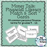 Personal Finance Vocabulary - Match & Sort