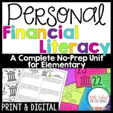 Personal Finance - Financial Literacy Unit for Elementary