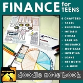 Personal Finance for Teens Doodle Note Book