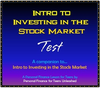 Intro to Investing in the Stock Market (Bundle): A Financial Literacy Assignment