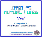 Intro to Mutual Funds Test (Financial Literacy)