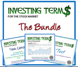 Investing Terms (Bundle): A Financial Literacy Assignment