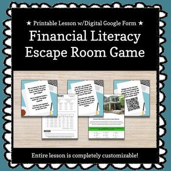 Personal Finances (Economics) Customizable Escape Room / Breakout Game