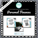 Personal Finances (Economics) Customizable Escape Room / B