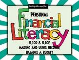 Personal Financial Literacy- 5th grade (Keeping Records//B