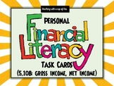Personal Financial Literacy: 5th grade task cards (5.10B gross & net income)
