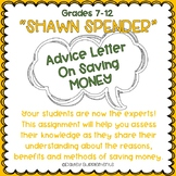 Financial Literacy Advice Letter on Saving Money - High School