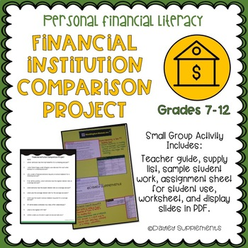 Personal Financial Literacy Banking & Financial Institution Comparison HS