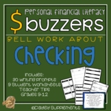 Financial Literacy - CHECKING - Bell Work & Writing Prompts