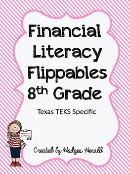 Personal Financial Literacy Flippables 8th Grade
