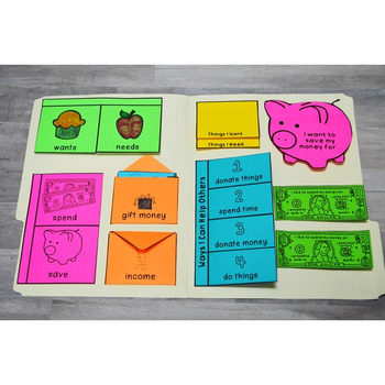 Personal Financial Literacy Folds & Flaps: Kinder & First (Notebooks / Lapbooks)