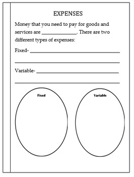 Personal Financial Literacy- PowerPoint and Mini-Book