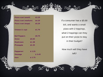 Personal Financial Literacy- Producers/Consumers/Unit Costs/Profit