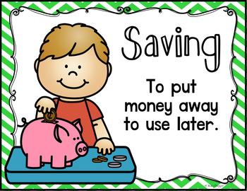 Personal Financial Literacy - Saving Adds Up (TEKS 2.11A)