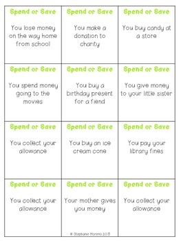 Personal Financial Literacy TEKS Savings Goal Plan Game