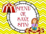 Personal Financial Literacy TEKS Spend Save Spin First Second Grade
