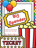 Personal Financial Literacy Wants Needs Big Spender Game