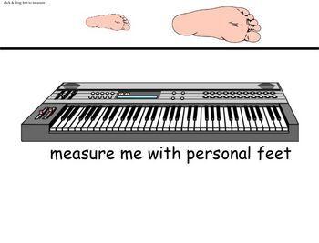 Personal Foot, Standard Foot Math SmartBoard Lesson Primary Grades
