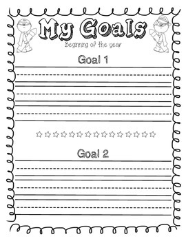 Personal Goal Sheets + Reflection