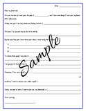 Personal Goals Student Worksheet