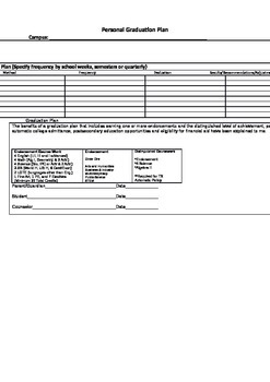Personal Graduation Plan SB 1108