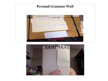 Personal Grammar Wall and Activities