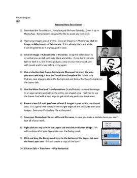 Personal Hero Tessellation - Photoshop (Computer Art Assignment 6)