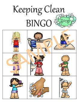 Personal Hygiene BINGO for Younger Students