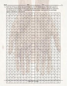 Personal Hygiene-Grooming Alphabet Soup Worksheet