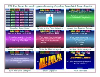 Personal Hygiene-Grooming Jeopardy PowerPoint Game