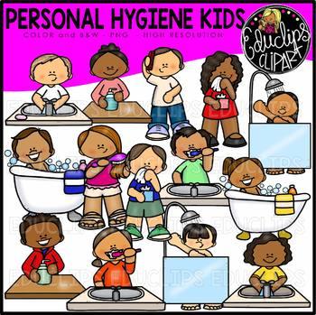Personal Hygiene Kids Clip Art Set {Educlips Clipart}