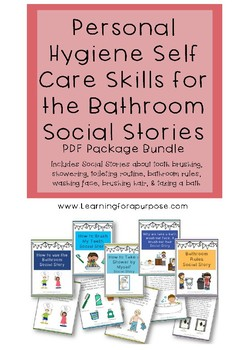 Personal Hygiene Skills in the Bathroom Social Stories Bundle