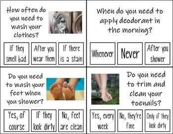 Personal Hygiene Task Cards