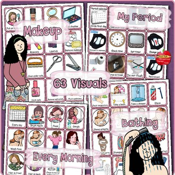 Personal Hygiene Visual Schedules & Support: Menstruation, Bathing, Teeth, Nails
