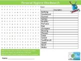 Personal Hygiene Wordsearch Sheet Puberty Teenagers Starte