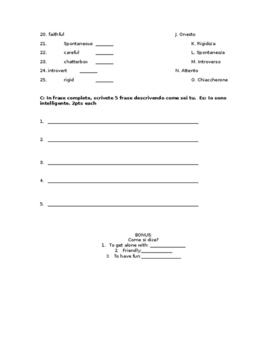 Personal Identification Quiz