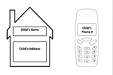Personal Info Card with Address and Phone Number