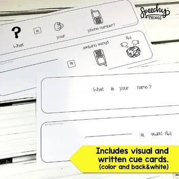 Adapted Safety Cards - Personal Information Practice Special Ed & Speech Therapy