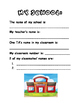 Personal Information - All About Me Book