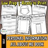 Personal Information All About Me Student Book