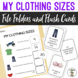 My Clothing Sizes - File Folders & Flashcards