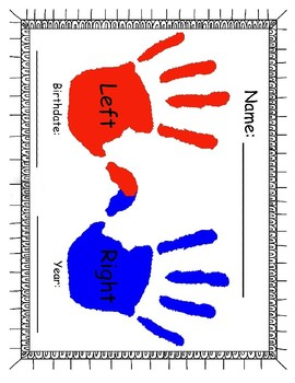 Personal Information Handprints Pack