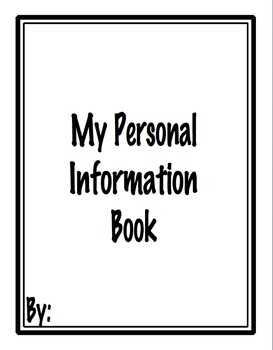 Personal Information Hands-On Practice Book with Sign Support
