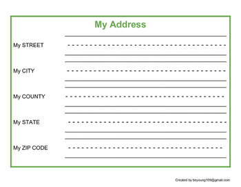 Personal Information - My Address - Special Education
