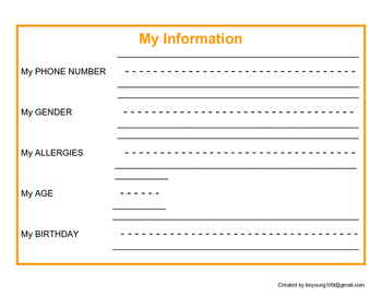 Personal Information - My Information - Special Education