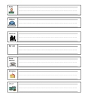 Personal Information Practice Worksheet (scaffolded)(lined)